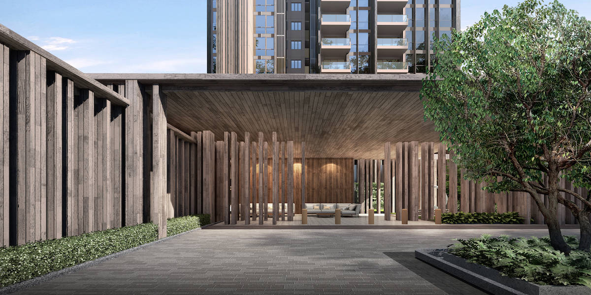 The Avenir Artist Impression Arrival Courtyard