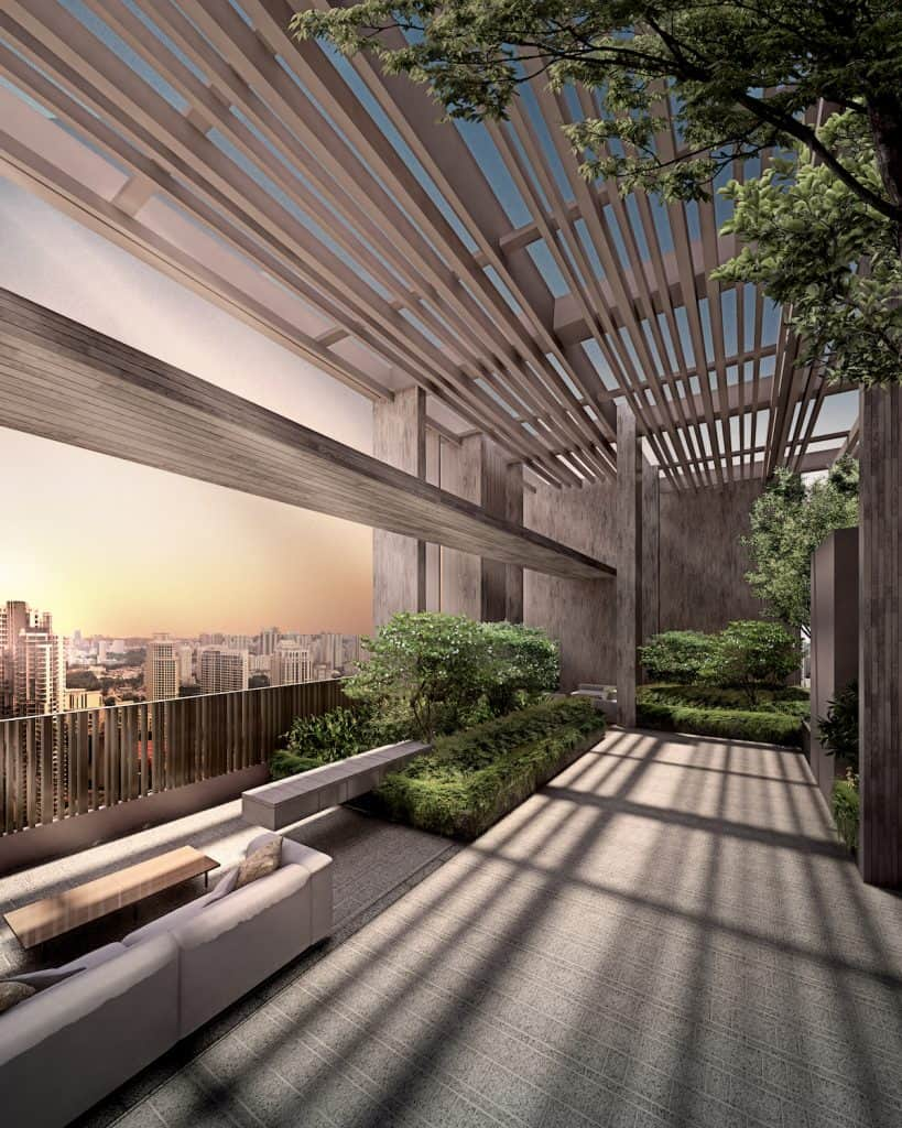 The Avenir Artist Impression Roof Garden